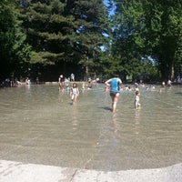 Photo taken at Volunteer Park Wading Pool by Virginia U. on 7/14/2013