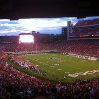 Photo taken at Sanford Stadium by Tim L. on 9/15/2012