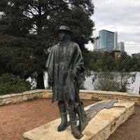 Photo taken at Stevie Ray Vaughan Statue by Eazy on 11/11/2016
