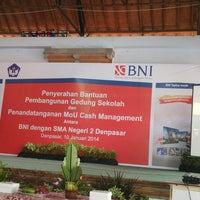 Photo taken at SMAN 2 Denpasar by Indra E. on 1/10/2014