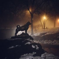 Photo taken at Balto Statue by Ben G. on 2/12/2013