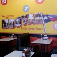 Photo taken at MOOYAH Burgers, Fries & Shakes by Angell S. on 4/16/2013