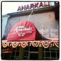 Photo taken at Anarkali Indian Restaurant by Tony C. on 11/24/2012