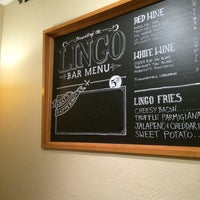 Photo taken at Lingo Bar & Cafe by Sara B. on 10/15/2014