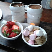 Photo taken at Max Brenner Chocolate Bar by Jo jin on 7/20/2013