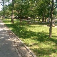 Photo taken at St. James Park by Steven R. on 6/21/2014