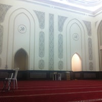 Photo taken at Shaikh Shakhbooth Ibn Sulthan - Musjid by Khulood S. on 8/2/2013