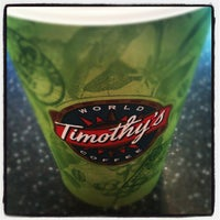Photo taken at Timothy's World Coffee by Ryan M. on 6/25/2012