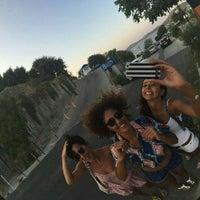Photo taken at Doria Beach by Fatma D. on 8/24/2016