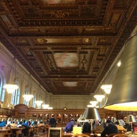 Photo taken at Rose Main Reading Room - New York Public Library by Mae A. on 1/18/2013