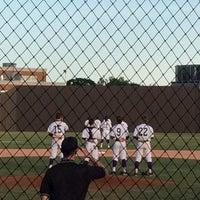 Photo taken at Richardson High School Baseball Field by Kirsten O. on 4/26/2014