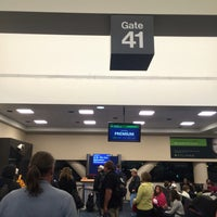 Photo taken at Gate 41 by Johnathan on 9/12/2016