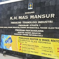 Photo taken at Fakultas Teknologi Industri UII by Serviana P. on 1/25/2014