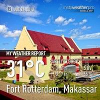 Photo taken at Fort Rotterdam (Benteng Ujung Pandang) by Ardha A. on 7/24/2013