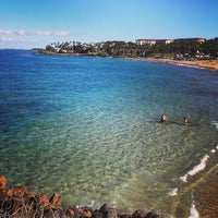 Photo taken at Wailea Beach by Lukas Y. on 2/15/2013