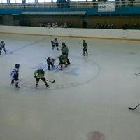 Photo taken at Talsu hokeja klubs (Talsi Ice Hockey club) by Andžela L. on 10/18/2015