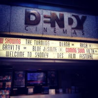 Photo taken at Dendy Cinemas by Francesco P. on 10/17/2013