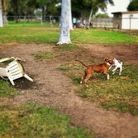 Photo taken at Costa Mesa Bark Park by Ellie Y. on 10/29/2014