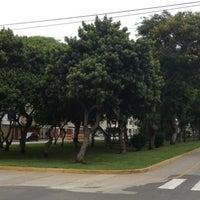 Photo taken at Parque Gonzales Prada by Oz S. on 12/15/2012