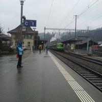 Photo taken at Bahnhof Langnau i.E. by Yuri L. on 11/28/2012