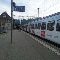 Photo taken at Bahnhof Langnau i.E. by Yuri L. on 11/21/2012