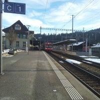 Photo taken at Bahnhof Langnau i.E. by Yuri L. on 12/24/2012