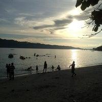 Photo taken at Pantai Natsepa by Jeanet B. on 12/26/2012