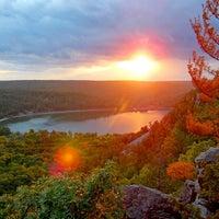 Photo taken at Devil's Lake State Park by Alex Y. on 11/2/2012