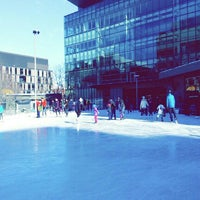 Photo taken at Kendall Square Community Ice Skating by Kalina on 2/7/2016