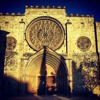 Photo taken at Monestir de Sant Cugat by Oliver on 1/20/2013