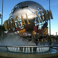 Photo taken at Universal Studios Hollywood Globe and Fountain by Emily C. on 12/27/2012