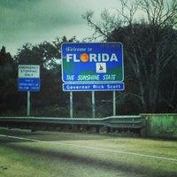 Photo taken at Florida / Georgia State Line by John D. on 1/27/2013