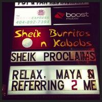 Photo taken at Sheik Burritos and Kabobs by Carl B. on 12/22/2012