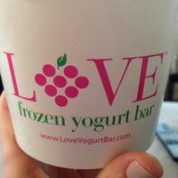 Photo taken at LOVE Frozen Yogurt Bar by Tracy R. on 6/19/2014