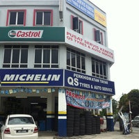 Photo taken at QS tyres & auto services by Firdaus I. on 2/8/2013
