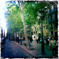 Photo taken at Passeig del Born by Amine S. on 4/27/2014