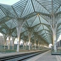 Photo taken at Estação Ferroviária da Gare do Oriente by Joao-Pedro D. on 11/7/2012