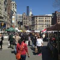 Photo taken at Union Square Greenmarket by Erica L. on 4/5/2013