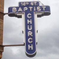 Photo taken at 16th Street Baptist Church by Dennis N. on 5/3/2013