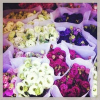 Photo taken at Dangwa Flower Market by Jen B. on 1/29/2013