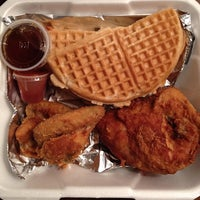 Photo taken at Roscoe's House of Chicken and Waffles by armand g. on 6/11/2012