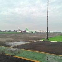 Photo taken at Bandar Udara Pondok Cabe (PCB) by Hanif L. on 7/27/2014