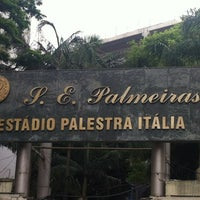 Photo taken at Sociedade Esportiva Palmeiras by Alê M. on 12/11/2012