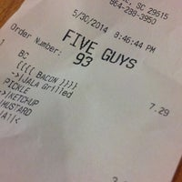 Photo taken at Five Guys by Tias S. on 5/31/2014