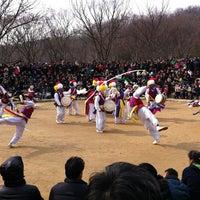 Photo taken at Korean Folk Village by Inhye P. on 2/24/2013