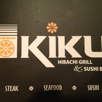 Photo taken at Kiku Hibachi Grill & Sushi Bar by Brent F. on 9/25/2012