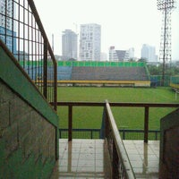 Photo taken at Stadion Lebak Bulus by Benhard m. on 12/9/2013