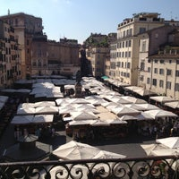 Photo taken at Campo de' Fiori by Boris P. on 5/8/2013