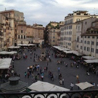 Photo taken at Campo de' Fiori by Boris P. on 5/7/2013