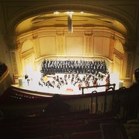 Photo taken at Carnegie Hall by Chris L. on 2/27/2013